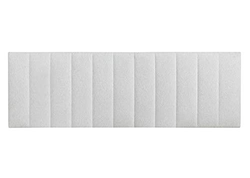 Kenay Home - Cabecero Tapizado 150 Dahlia, Cabezal Tapizado para Cama de 150: 160x52cm (AnchoxAlto), Gris, Incluye Anclaje Pared