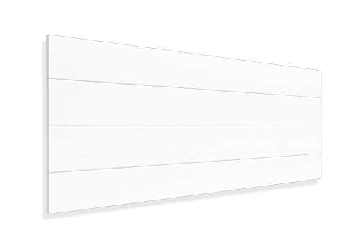 LA WEB DEL COLCHON - Cabecero de Madera Rústico Vintage para Cama de 90 (100 x 44 cms.) Blanco nórdico   Cabeceros Madera   Dormitorio Matrimonio   Cabezal Cama  Estilo nórdico