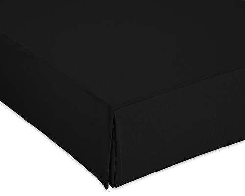 Cardenal Textil Liso Cubre Canape, Negro, Cama 150