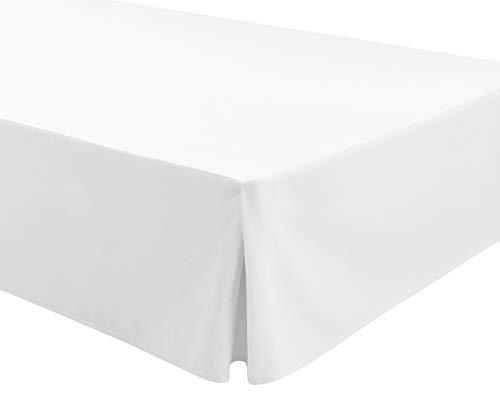 Easycosy - Cubre Canapés para Somier ATENEA Faldon para Cama 90 cm Cubrecanape - Color Blanco (90x190/200cm)