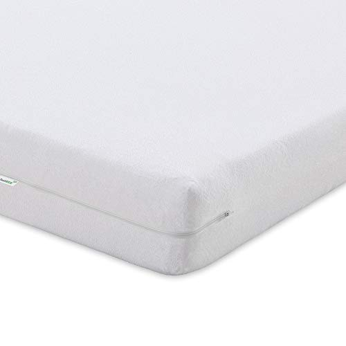 TextilECO Cubre Colchon 135x190. Protector Colchon 135 Algodon Rizo. Funda Colchon 135x190 con Cremallera.Antiacaros Suave Lavable. Bielastic. Cama 135 x 190/200 cm