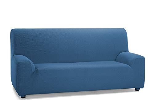Martina Home Tunez Funda Elástica para Sofá, Tela, Azul (Azafata), 3 Plazas (180-240 cm)