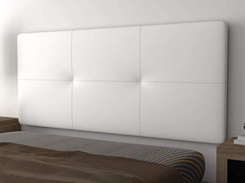 LA WEB DEL COLCHON - Cabecero tapizado Andrea para Cama de 90 (100 x 70 cms) Blanco