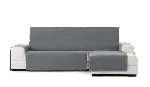 Eysa Funda chaisse Longue práctica Rabat 240cm Color 06/,Gris Oscuro, Derecha Vista Frontal