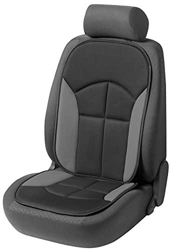 WALSER Cubierta del asiento del coche Novara La cubierta del asiento universal y la almohadilla projoectora en Negro gris protector de asiento para coche y camiones 13447