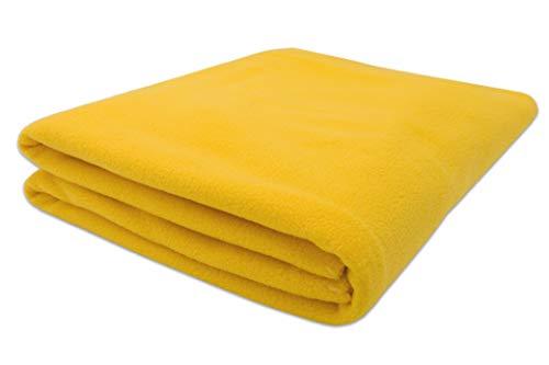 ZOLLNER Manta Polar para sofá, Amarillo, 130x170 cm, en Otros Colores