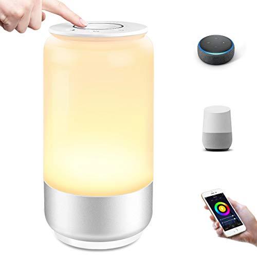 LE Lámpara de Mesa WiFi Inteligente, Lámpara de Noche WiFi, RGB Blanco Regulable (2000K - 6000K), Luz Nocturna WiFi Táctil Compatible con Alexa y Google Assistant, Ideal para Descansar, Leer y etc