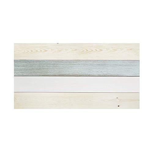 Decowood - Cabecero para Cama Dormitorio, Hallstatt Forest con Lamas Horizontales, Madera de Pino, Azul - 160 x 80 cm