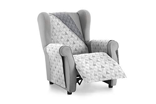 Textilhome - Funda Cubre Sofá Malu -1 Plaza - Relax - Protector para Sofás Acolchado Reversible. Color C/2