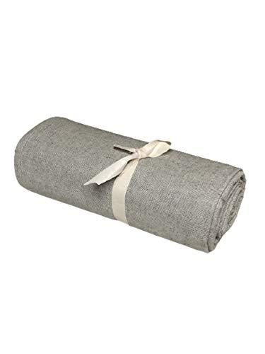 Biancheria Store Tela decorativa para cubrir sofás de color gris liso en 2 tamaños – Fabricada en Italia Gran Foulard multiusos - Funda multiusos para sofá - 160 x 280 cm