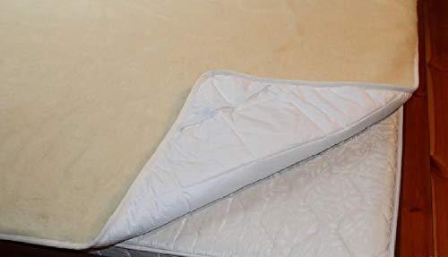 Merino cubrecama de Lana 100x 200cm de Lana de Oveja Colchón Colchón–Cubrecolchón colchones de Fundas con Estructura granulada