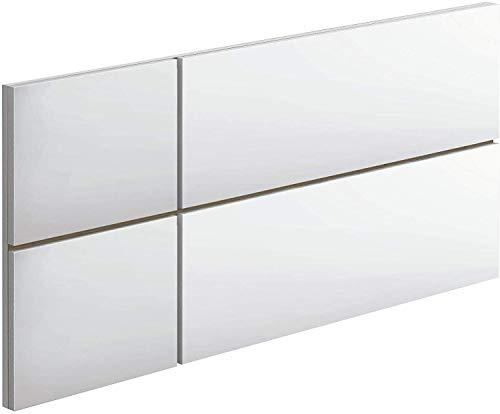 Cabecero Nova habitacion Juvenil Dormitorio Estilo Infantil Moderno Color Blanco (Mate) 100x50 cm