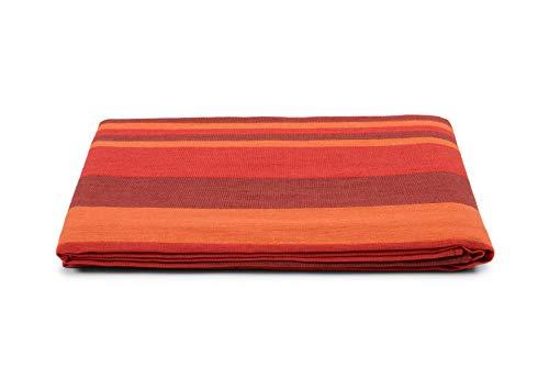 HomeLife Colcha de una plaza y media para primavera y verano, de piqué [220 x 260 cm], fabricada en Italia | Colcha de algodón a rayas | Colcha de 1 plaza y media ligera | 1,5 P Brodeaux