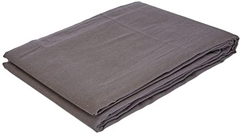 TODAY 576334Cache - Funda de somier, algodón/Tela Tejida/Polipropileno, algodón, Gris Oscuro, 140x190 cm