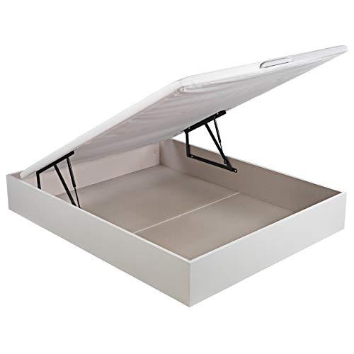 ROYAL SLEEP Canapé Abatible (150x190) de Gran Capacidad, Tapa 3D Transpirable, Color Blanco Montaje y Retirada de Usado Incluido