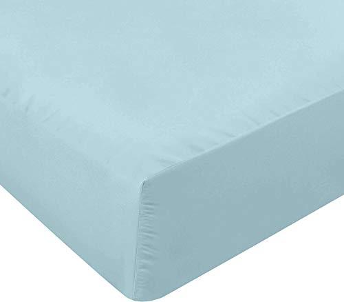 Utopia Bedding Sábana Bajera Ajustable - Bolsillo Profundo - Microfibra Cepillada - (Azul Agua, 140 x 200 cm)