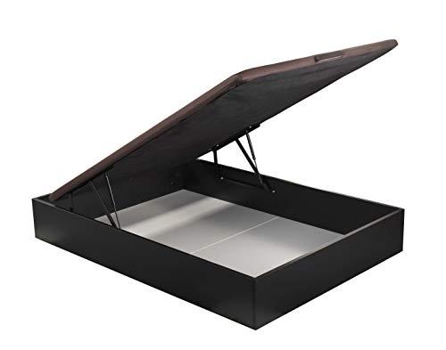ROYAL SLEEP Canapé Abatible (135x190) de Gran Capacidad, Tapa 3D Transpirable, Color wengué Montaje y Retirada de Usado Incluido