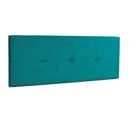 DHOME Cabecero de Polipiel o Tela AQUALINE Pro cabeceros Cabezal tapizado Cama Lujo (Tela Turquesa, 160cm (Camas 150/160))