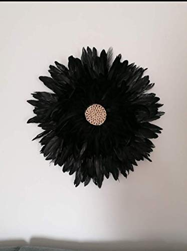 Juju Hat Decoración para el Hogar Salon Pared Original Tribal con Plumas para el Hogar Africa. Nordico Etnico Interiorismo Cuadro Bohemio Rustico Macrame Shabby Chic Vintage