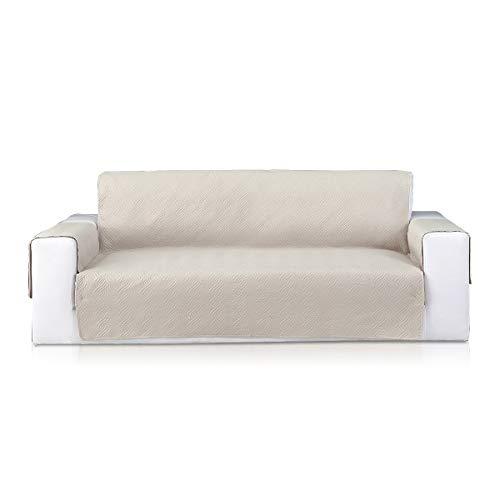 PETCUTE Funda de sofá 3 plazas Protector de sofá Moderno Sofá Protector de Muebles Cubre Sofá Fundas de sillón Beige
