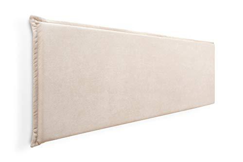 Cabecero de Espuma Jazmin Foam Liso con Ribete, Desenfundable, para Camas de 135 (149 x 52 cm) Tela Beige