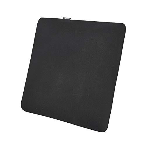 Amazon Basics - Cojín viscoelástico para asiento, negro, cuadrado