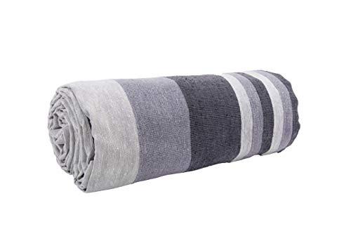 HomeLife - Tela decorativa para sofá a rayas, 260 x 260 cm, fabricada en Italia – Sábana cubretodo de color de puro algodón – Granfoulard colcha para cama individual – Fabricado en Italia [2...