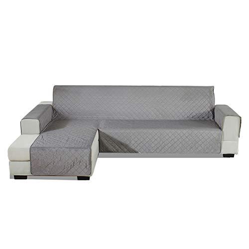 PETCUTE Funda Sofa Chaise Longue Acolchada Protector de sofá con Chaise Izquierda Cubre Chaise Longue Fundas sofá Impermeables 200x270cm