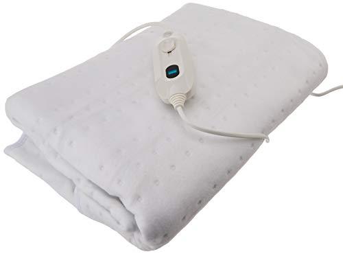 Daga FX CIE - Manta eléctrica (150 x 90 cm, conexión separable, 3 niveles de temperatura, LED) color blanco, 150x90