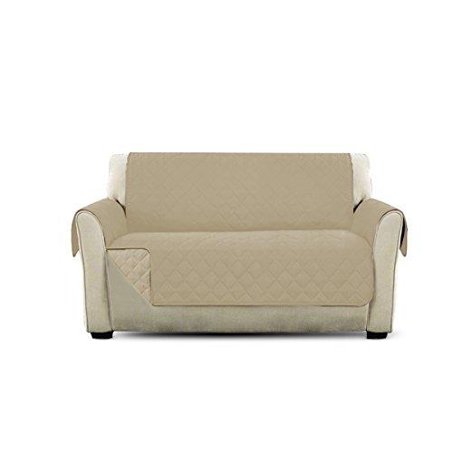 PETCUTE Fundas de Sofa Protector de sofá Dos plazas Beige 2 plazas Cubre Sofa Protector para Mascotas
