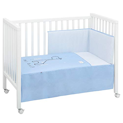 B.e 44117 Jgo 2 Pcs.colcha I-v. Cuna 70 Be Giraffe Azul 70x140 Cm, color Azul, 60x120 cm, 2680 g