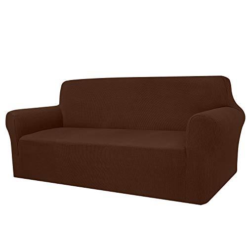 Granbest - Funda de sofá de Alta Elasticidad, diseño Moderno, Jacquard, para el salón, para Perros y Mascotas (4 plazas, Chocolate)