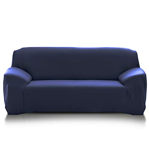 PETCUTE Fundas de sofá elasticas Protector de sofá Funda Elastica Chaise Longue Cubre Sofa Elastico Funda Sillon Azul Oscuro 2 plazas