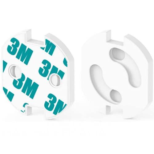 HOMYBABY® [25pcs] Protector enchufes para bebes y niños | Kit Seguridad Infantil | Producto Certificado (CE) | Cubre Enchufes | Tapa enchufes bebe con mecanismo de giro + adhesivo 3M | Seguridad...