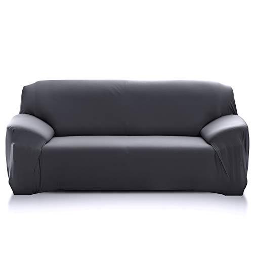 PETCUTE Fundas de sofá elasticas Protector de sofá Funda Elastica Chaise Longue Cubre Sofa Elastico Funda Sillon Gris 2 plazas