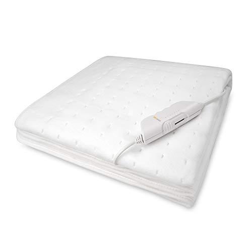 Medisana HU 662 Calefacción bajo la cama, 150 x 80 cm, desconexión automática, protección contra sobrecalentamiento, 6 ajustes de temperatura, lavable para todos los colchones estándar
