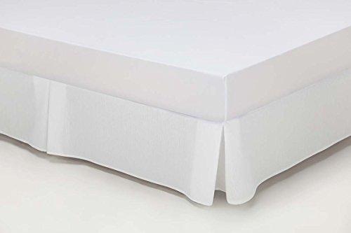 ESTELA - Cubrecanapé Hilo Tintado RÚSTICO Color Blanco óptico - Cama de 150 - Alto 35 cm - Tipo Colcha - 50% algodón / 50% poliéster - Medidas: 150 x 190/200 + 35 cm.