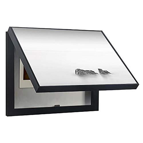 Cuadro de medidor decorativo de la cubierta de la tapa del tirador del paisaje en blanco y negro simple, sección transversal Pared de la sala Antifouling Cuadro de la pared de la cubierta vertical de