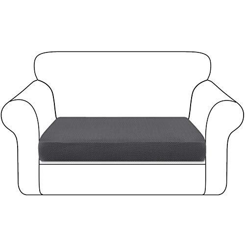 Granbest Funda de cojín para asiento de sofá espesada resistente funda para sofá protección para muebles individuales cojines (2 plazas), color gris