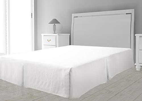 Intemporel - Cubre Somier de Microfibra, color Blanco, 90 x 190 cm