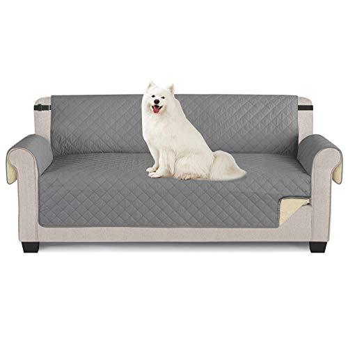TAOCOCO Funda de sofá Impermeable Funda de cojín de protección para Mascotas Funda de sofá antisuciedad (Grigio, 3 posti 165*190cm)
