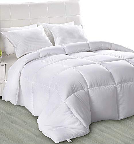 Utopia Bedding - Primavera-Verano Edredón de Fibra 220x240 cm- Fibra Hueca Siliconada, 1050 gramo (Primavera-Verano, Cama 135/150)