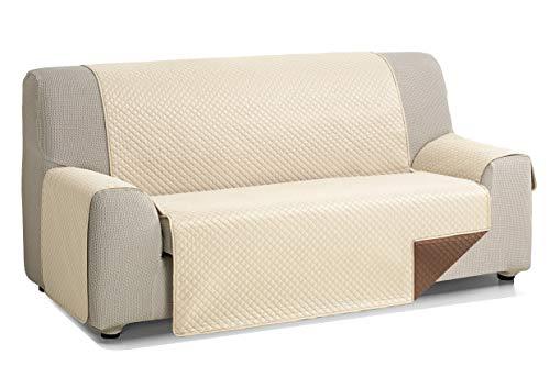 Martina Home Diamond Cubre Sofa Acolchado Reversible, Beige/Marrón, 3 Plazas