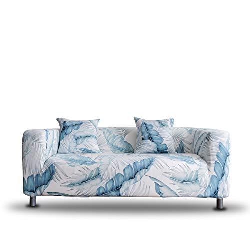 ENZER Funda de Sofa Elastica Ajustables Cubre Sofas Universal Fundas para Sofa,Banana Leaf,3 Plazas