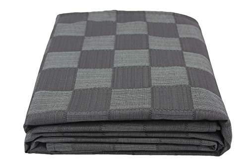 Colcha Multiusos para sofá, Manta Foulard Extra Grande, Plaid, Cubrecama Dákar (Negro, 180x320)
