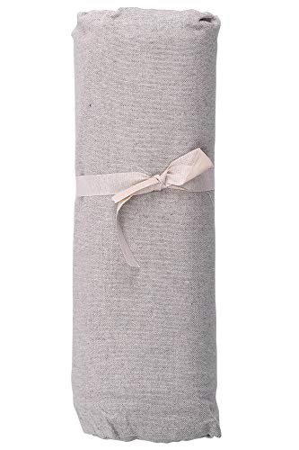 HomeLife – Foulard Multiusos – Tela Decorativa Cubre sofá con diseño Liso, 260x280, fabricación Italiana – Granfoulard de algodón – Cubrecama Doble (Cama de Matrimonio) – Gris