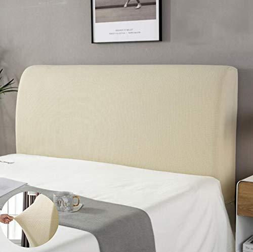 Cubierta para cabecero de cama Protectora de Cabeceros de cama elástica y a prueba de polvo Adecuado para una variedad de cabeceras de cama Beige 150cm Adecuado para cabecero de140-170cm