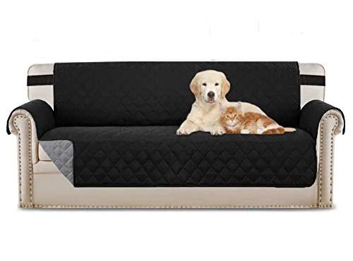 FENRIR Funda de Sofá 3 Plazas Impermeable Fundas para Sofa Antideslizante Cubre Sofa Protector para Sofa Antisuciedad para Perros Gatos Lavable (Negro)