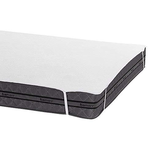 Bedecor Protector de colchón,100% algodón Impermeable,Transpirable 135 x 190 cm