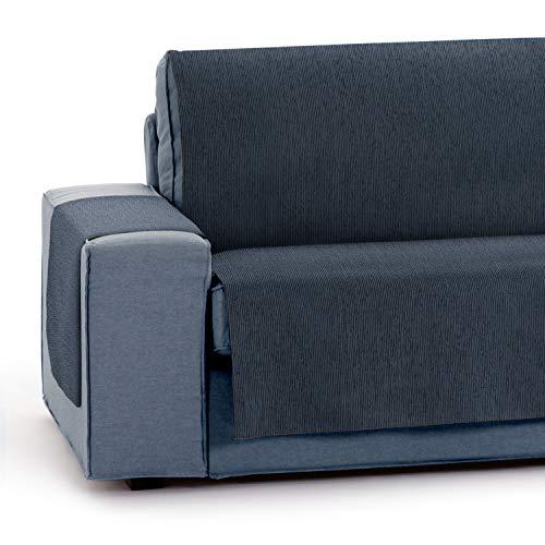 Vipalia Protector Funda para Sofa Ajustable. Cubresofas para Invierno Verano. Funda Sofa Antimanchas Chenilla Suave. Color Azul. Cubre Sofa 4 plazas (190 cm)